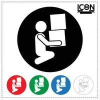 Man Moving Box Icon