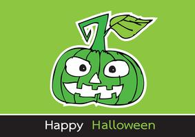 Tarjeta de halloween con calabaza