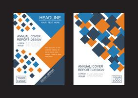 abstract square flyer vector