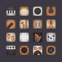 3d instrument icon vector