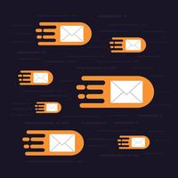 hi speed email vector