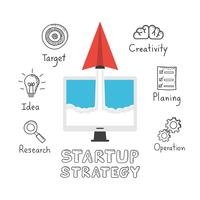 paper plane startup drawing vector