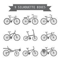 black bicycle icon vector