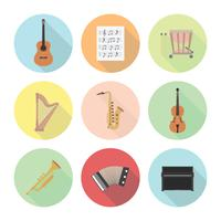 classical music icon vector