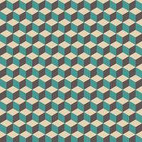 patrón de cubo retro