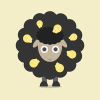 zwarte schapen, retro-stijl