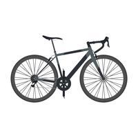 schwarzes Rennrad