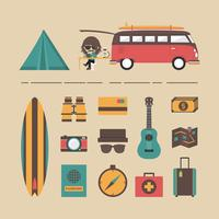 camping equipment icon vector