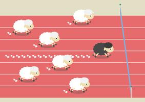 competition of sheep vector