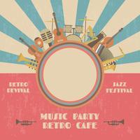 cartel de concierto de jazz de retor