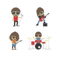gruppo di musicisti rock