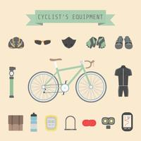 cyclist's gear icon vector