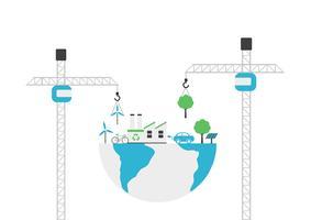 concepto de construcción de medio ambiente