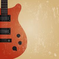 grunge electric guitar vector