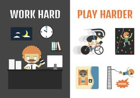 work and travel vector