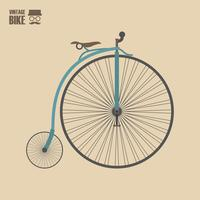 vintage old bicycle vector