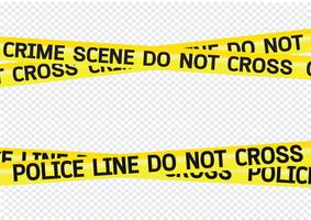 Crime scene danger tapes illustration vector