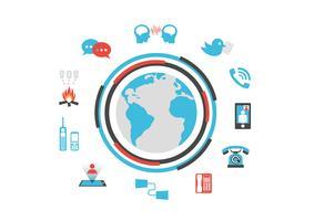 geïsoleerde communicatietechnologie