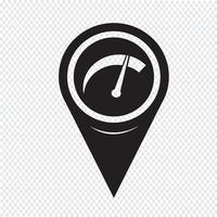 Mapa de puntero icono del medidor de coche