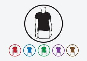 Apparel shirt and T-shirt Icon Clothing icons vector