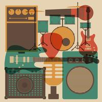 abstract rock instrument vector
