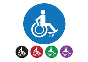 Projeto do ícone de Handicap de cadeira de rodas