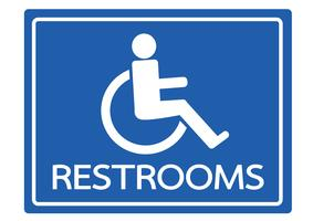 Restrooms for Wheelchair Handicap Icon design