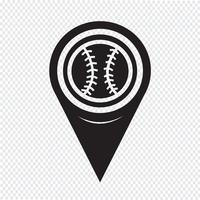 Map Pointer Baseball Icon