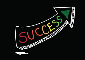 Símbolo de éxito y fracaso vector