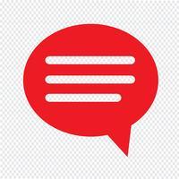 Icône de bulle de dialogue Illustration design