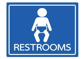 Pictogram child restroom icons   vector