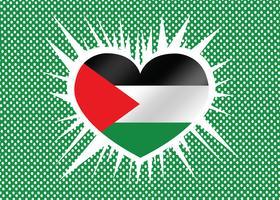 Heart and I love Gaza Strip flag idea design