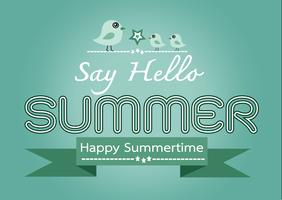 Cartão de desenho de ideia de conceito de verão