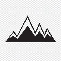 icono de montañas símbolo signo