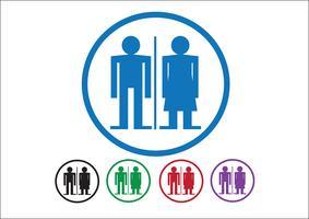 Pictograma homem mulher ícones de sinal, sinal de banheiro ou ícone de banheiro