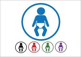 signo de simbolo de bebé vector