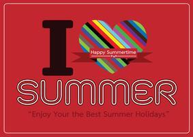 I love Summer concept  idea design card