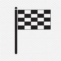 sinal de símbolo de ícone de bandeira
