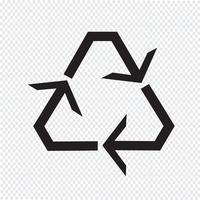 Recycle pictogram symbool teken