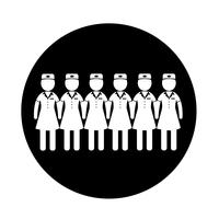 Stewardess pictogram