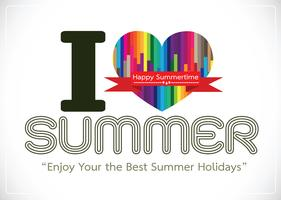 I love Summer concept  idea design card vector