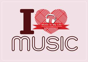 amo Music and Music is My Life tipo di carattere parola con segni idea design