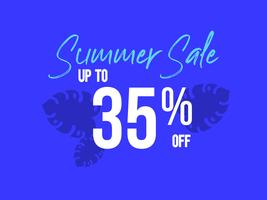 Summer Sale up to 35 percent off poster