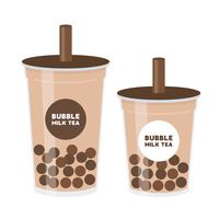 Bubble tea or Pearl milk tea vector illustration