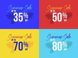 Sommarsälj affischuppsättning, 35 till 80 procent