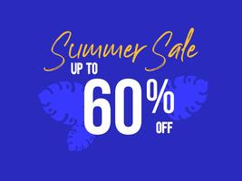 Summer Sale up to 60 percent off poster