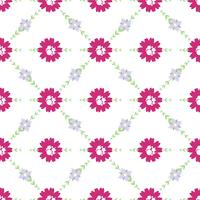 Vector patroon van bloemen, twijgen en bladeren