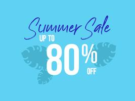 Summer Sale up to 80 percent off poster