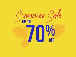 Summer Sale up to 70 percent off poster