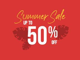 Summer Sale up to 50 percent off poster vector